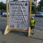 Plakat mit Forderungen